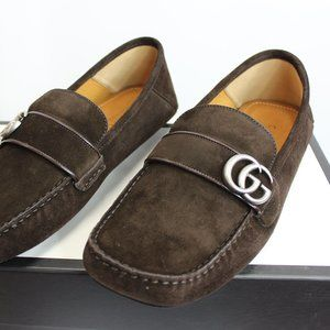 NWT Gucci Suede Driver in Brown